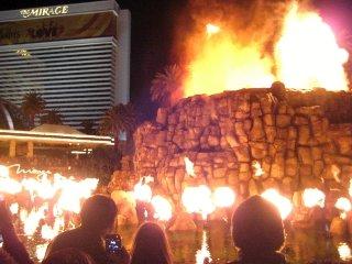 ミラージュホテル 火山噴火ショー
